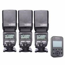 3 * YONGNUO YN685 E-TTL HSS Speedlite Flash For Canon + YN-622C-TX Trigger