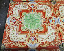 A SET OF 10 BEAUTIFUL TRANSFER PRINT DECORATIVE VICTORIAN FIRE TILES REF FX0008