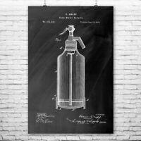 Seltzer Bottle Poster Print Soda Brewery Art Home Bar Decor Bartender Gift