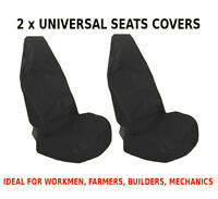 2x CAR FRONT SEAT COVERS PROTECTOR For Mitsubishi L200
