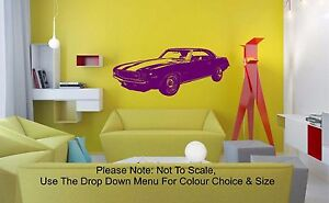 1969 Camaro - WALL ART STICKER DECAL