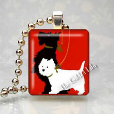 Scottish Terrier Scotty Dog Scottie Scrabble Tile Art Pendant Jewelry Charm