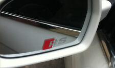 AUDI RS Logo Premium Wing Mirror Decals Stickers