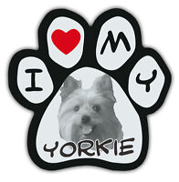 Picture Paws   Dog Paw Shaped Magnets: I LOVE MY YORKIE (YORKSHIRE TERRIER)