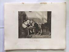 GRAVURE HELIOGRAVURE GEORGES PETIT 1904 DECAMPS L'INDISCRET