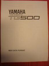 YAMAHA tone generator TG-500 TG500 MIDI DATA FORMAT control change JPEG Format