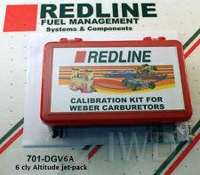 WEBER 32/36 DGEV DGAV Carburetor Carb Jetting Jet Pack kit - 6clyl high Altitude