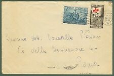 Lettera del 24.12.1951. Porto assolto con lire 20 s. Colombo + lire 5 Ginnici