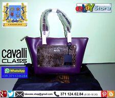Borsa Donna Roberto Cavalli Class Tilda Purple Viola Big Shopping Bag Fashion