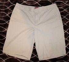 MERONA Wm's 14 Beige light Tan Chino Khaki walking shorts FIT 1 style c647