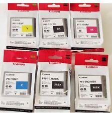6 x inchiostro originale Canon ipf510 ipf600 ipf610 ipf650/pfi-102 MBK BK C Y M Set
