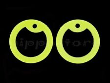 4 Yellow Glow in Dark Silicone Military Army Dog Tag Silencers Rubber Silencer
