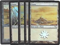 Magic the Gathering (194) 5x Foil Länder / Lands / Land Ebene / Plains