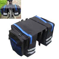 Big Bike Bicycle Rear Rack Pannier Bags Waterproof Seat Box Saddle Carry Bag New