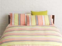HABITAT Strips Multi-coloured Patterned Kingsize Duvet Cover Set - Brand New
