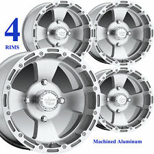 FOUR 14x8 14x7 4/110 Aluminum ATV RIMs WHEELs for Honda Rincon 650 680 700 IRS