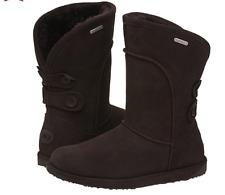 Emu Australia Charlotte Waterproof Suede & Sheepskin Boots Chocolate 3/36