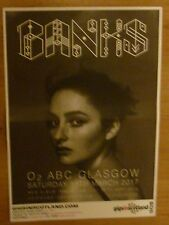 Banks - Glasgow march 2017 tour concert gig poster