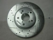 One Front Left Disc Brake Rotor Drilled  Slotted JBR1383XL