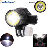 Powerful 8000LM T6+COB LED Flashlight Rechargeable Bike Front Torch Light 18650