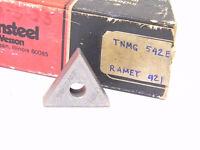 NEW SURPLUS 6PCS. VR/WESSON  TNMG 542E  GRADE: RAMET 921  CARBIDE INSERTS