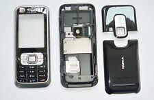 Silver Housing cover Case fascias facia faceplate For Nokia 6120 6120 classic