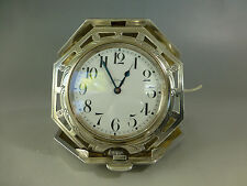 Antique Quarter Repatere Swiss Sterling Silver travel Watch/Clock (Watch Video)