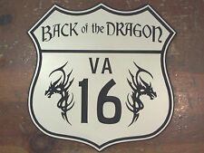 Engraved VA 16 Back of the Dragon custom highway road sign garage man cave route