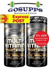 2x MuscleTech Platinum Multivitamin 90 Tabs Advanced Multi Vitamins Post