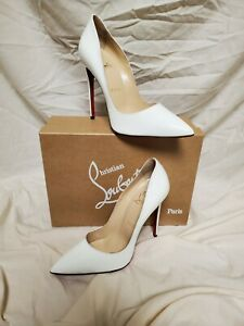New CHRISTIAN LOUBOUTIN-So Kate 125mm Cool White Patent Leather Shoes