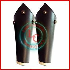 Real Leather Studded Medieval Bracer Pair Gauntlet Arm Guard Archery Sca Armour