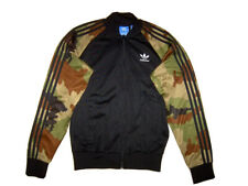 Adidas originals trefoil black & camo track suit top jacket S/M