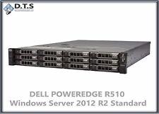 Dell PowerEdge R510 24gb 2.93Ghz 12x 300GB 15k H700 SERVER 2012 R2 Standard COA