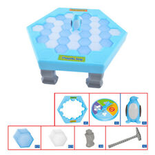 US Save Penguin Ice Block Breaker Trap Toys Parent-child Interactive Table Game