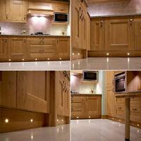 30MM WARM WHITE LED DECK LIGHTS OUTDOOR DECKING GARDEN LIGHTING KITCHEN PLINTH