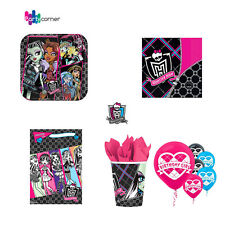 MONSTER HIGH PARTY SUPPLIES PARTY PACK, 8 PLATES, 16 NAPKINS, 8 LOOT BAGS, 8CUPS