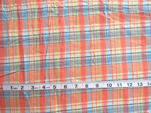 Vintage Cotton Lawn Fabric PRETTY Plaid 30w 1yd