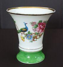 C.T. Carl Tielsch  Altwasser Vase *** Blumenmotiv mit Pfau ***  Handgemalt