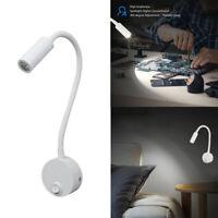 LED Wandleuchte mit flexiblem Schlauch Nachtleseleuchte Leselampe 3W Weißlicht