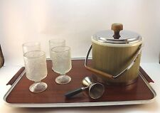 Vintage Deco Mid Century Serving Tray w/ Bakelite Handles  (Tray only)
