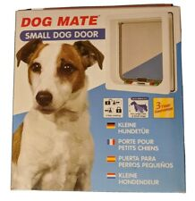 "Dog Mate Multi Insulation Dog Door - White Small (Dogs up to 14"" Shoulder Hei..."