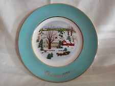 Vintage 1973 Avon Christmas Plate Christmas on the Farm First Edition wedgwood