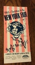 1965 INVITATION TO THE NEW YORK WORLD'S FAIR BROCHURE BY ASK MR FOSTER TOURS
