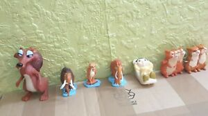 Ice Age Toys/cake Toppers Set Of 6