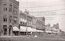 1908 Ottawa Kansas KS Main Street bank stores photo CHOICE 5x7 or request 8x10..