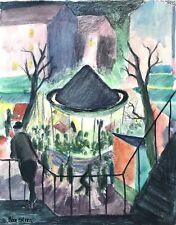 2.von 2: Neue Sachlichkeit Gemälde Volksfest Karussell Max Stern Düsseldorf~1925