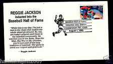 Reggie Jackson Hof Induction 1993 Usps collectible Envelope with Olympic Stamp
