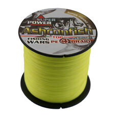 500M 50LB Dyneema Fishing Line Strong Braided 4 Strands Yellow Sea Fish Line