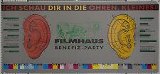 """Filmhaus Bielefeld Benefiz ca. 1989 Kino Lichtwerk """"Ich schau dir in die Ohren"""""""