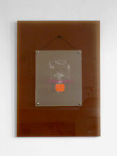 1970 OEUVRE ART-DECO MODERNISTE BAUHAUS ABSTRACTION GEOMETRIQUE PLEXIGLAS LUCITE
